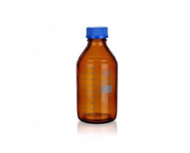 SIMAX 1632414345940 Банка для реактивов, синяя крышка, темное стекло, 1000 мл