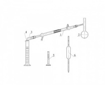 276 Аппарат Энглера для определения фракционного состава бензина и лигроина