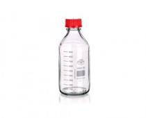 SIMAX 1632414321251 Банка для реактивов, красная крышка, светлое стекло, 250 мл