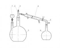 1834 Аппарат для перегонки веществ АПВ-10, с испарительной колбой 10 л